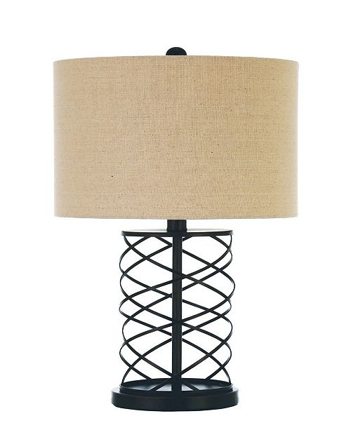 Coaster Home Furnishings Clinton Drum Table Lamp with Twisted Base