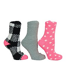 Gingham Cozy Sock Giftbox, 3-Pack