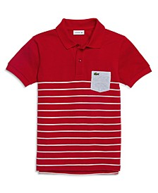 Toddler, Little and Big Boys Vintage-like Striped Polo Shirt