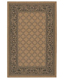 CLOSEOUT! Rugs, Indoor/Outdoor Recife 1016/2000 Garden Lattice Cocoa-Black
