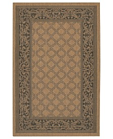 CLOSEOUT! Couristan Rugs, Indoor/Outdoor Recife 1016/2000 Garden Lattice Cocoa-Black