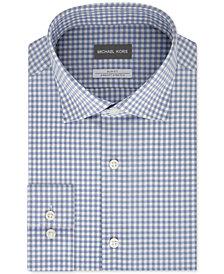 Michael Kors Men's Slim-Fit Non-Iron Airsoft Performance Stretch Check Dress Shirt
