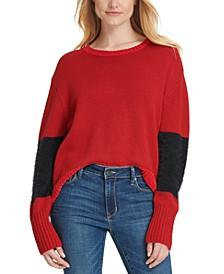 Oversized Eyelash-Trim Sweater