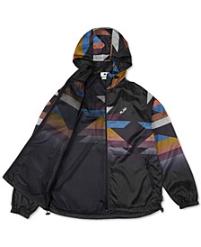 Men's Sedona Geometric-Print Hooded Windbreaker