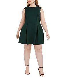 Trendy Plus Size Lace-Trim Fit & Flare Dress