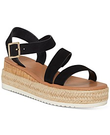 INC Women's Siona Asymmetrical PlatForm Wedge Sandals, Created for Macy's