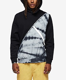 Men's Tie Dye Color Block Hoodie