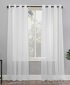 "Emily 59"" x 120"" Sheer Voile Curtain Panel"