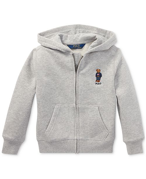 Polo Ralph Lauren Toddler Boys Polo Bear Fleece Hoodie, Created For Macy's