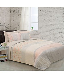Flora 8 Piece Comforter Set - Queen