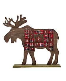 """24.02"""" L Wooden Reindeer Countdown"""
