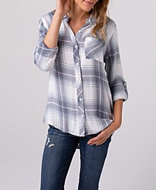 Soft Plaid One Pocket Shirt