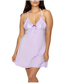 Plus Size Alicia Chemise Nightgown, Online Only