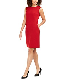 Extended-Shoulder Sheath Dress