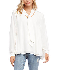 Karen Kane Sparkle-Shoulder Crepe Top