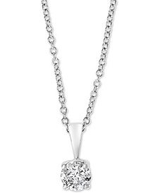 "EFFY® Diamond Solitaire 18"" Pendant Necklace (1/2 ct. t.w.) in 14k White Gold"