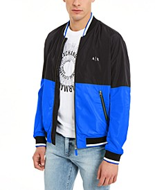 Men's Hyperbright Colorblocked Bomber Jacket, Created for Macy's