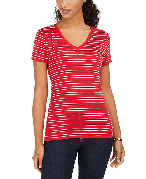 Tommy Hilfiger Striped V-Neck T-Shirt