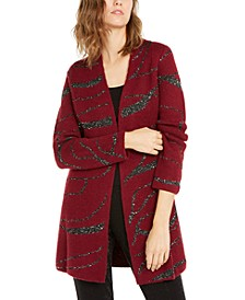 Sequin Open-Front Cardigan, Created For Macy's