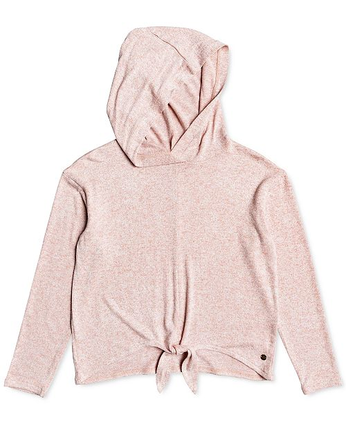 Roxy Little & Big Girls Tie-Front Hoodie