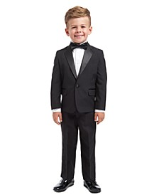 4-Piece Tuxedo Suit, Shirt & Bowtie, Little Boys
