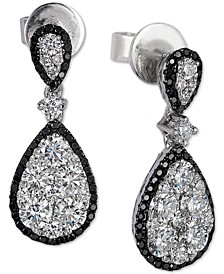 Red Carpet® Diamond Teardrop Cluster Drop Earrings (1-3/8 ct. t.w.) in 14k White Gold