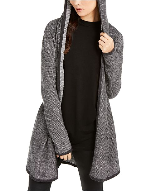 Eileen Fisher Organic Hooded Cardigan, Created for Macy's