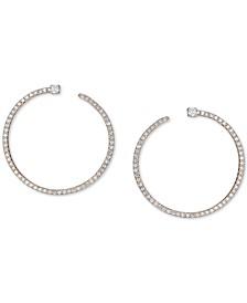 Diamond Front & Back Hoop Earrings (3/8 ct. t.w.) in 14k Gold