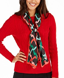 Ribbon Curl Silk Oblong Scarf