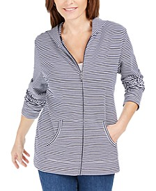 Mini-Striped Zip Hoodie, Created for Macy's