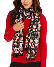Puppy Outfits Holiday Oblong Scarf