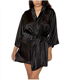 Plus Satin Robe Wrap, Online Only