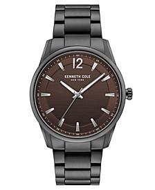 Men's Gunmetal Stainless Steel Bracelet Watch, 42mm
