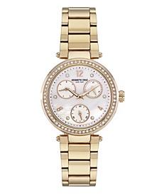 Women's Gold-Tone Stainless Steel Bracelet Watch, 35mm