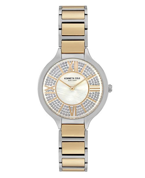 Kenneth Cole New York Women's Two Tone Stainless Steel Bracelet Watch, 33mm