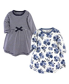 Toddler Girl Long Sleeve Organic Dress 2 Pack
