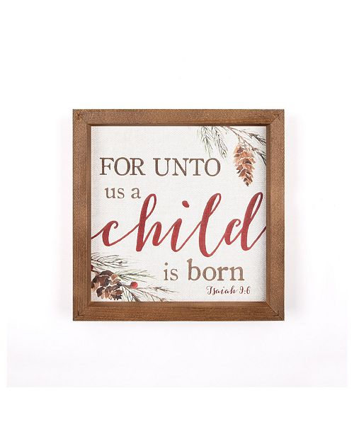 P Graham Dunn For Unto Us A Child Is Born Wall Art