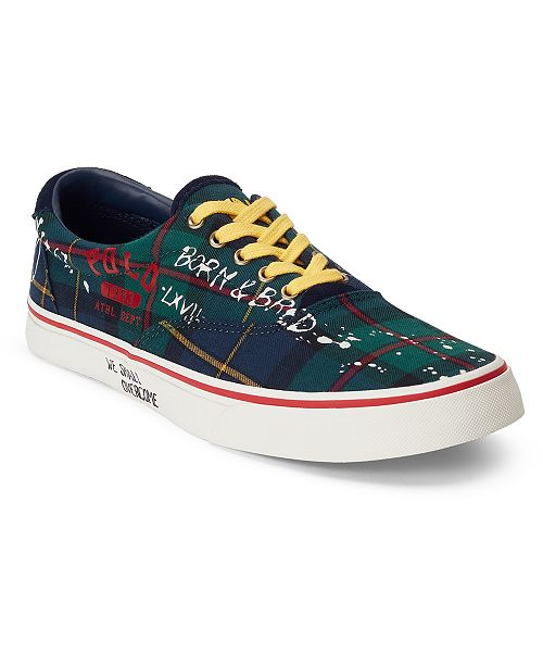 Polo Ralph Lauren Men's Tartan Graffiti Thorton Sneakers