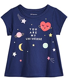 Baby Girls Universe-Print Cotton T-Shirt, Created for Macy's