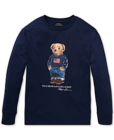Big Boys Sweater Bear Cotton Long-Sleeve T-Shirt, Created For Macy's