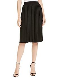 Glitter Pleated Knit Skirt