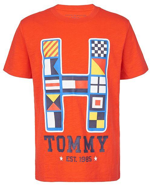 Tommy Hilfiger Little Boys Ben Textured Logo T-Shirt