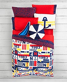 Kids Anchor Print 3-Piece Full Comforter Set