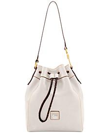 Florentine Hattie Leather Drawstring Bag