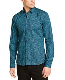 Men's Ero3-W Slim-Fit Abstract-Print Shirt