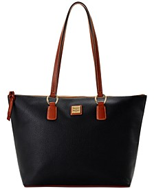 Pebble Leather Wren Zip Tote