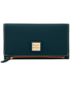Pebble Leather Foldover Wallet