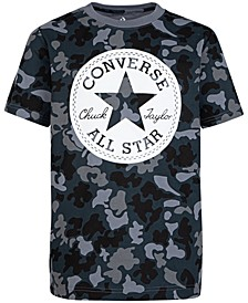 Big Boys Camouflage Chuck Patch Logo T-Shirt