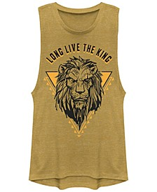 Juniors' Lion King Long Live the King Scar Festival Muscle Tank Top