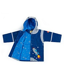 Little and Big Boy with Comfy Space Hero Raincoat